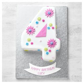 4th Birthday Flowers Cake