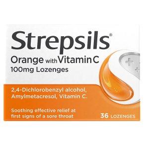 Strepsils Orange with Vitamin C