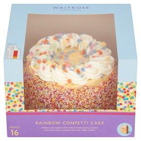 Waitrose Rainbow Confetti Cake