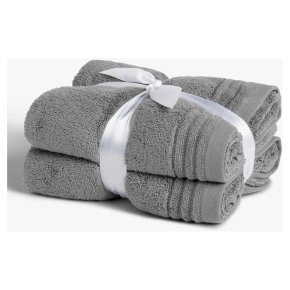 John Lewis Cotton Hand Towel Bale Dove 2 Pack