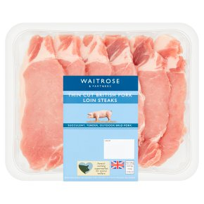 Waitrose British Thin Cut Pork Loin Steaks