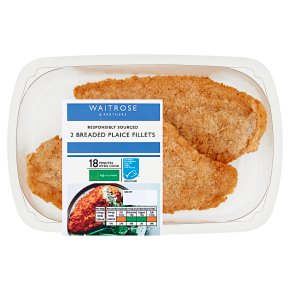 Waitrose Breaded Plaice
