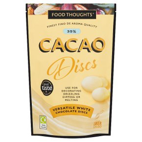 Food Thoughts White 35% Cacao Discs