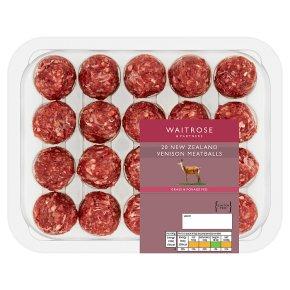 Waitrose 20 New Zealand Venison Meatballs