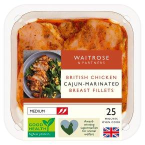 Waitrose British Chicken Cajun Breast Fillets