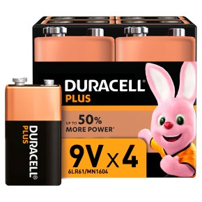 WAITROSE > Household > Duracell Plus 9V Batteries Alkaline