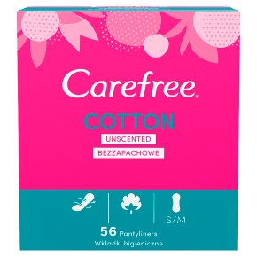 Carefree Cotton Pantyliners Unscented
