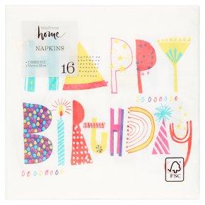 Waitrose Home Party Happy Birthday Star Napkins