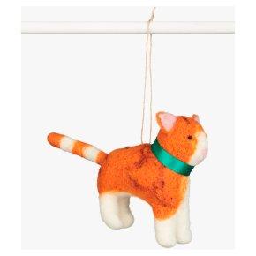 Field Felt Ginger Cat Decoration