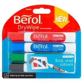 Berol Dry Wipe Markers Assorted