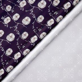 John Lewis Owl Snowflake Wrap 4m