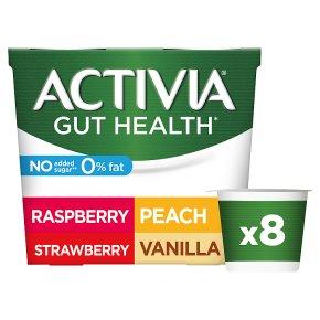 Activia 0% Fat Peach Vanilla, Raspberry, Strawberry Yogurts