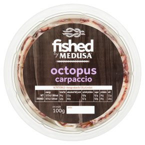 Fished by Medusa octopus carpaccio