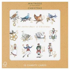 Waitrose Christmas 12 Days Charity Card
