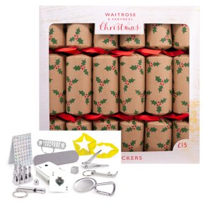 Waitrose Christmas Holly Crackers