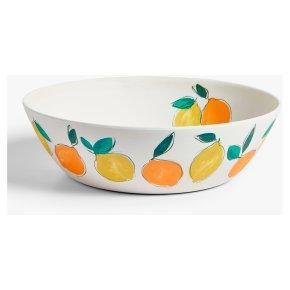 John Lewis Bamboo Lemon Print Salad Bowl