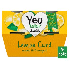 Yeo Valley Organic Lemon Curd Yogurts