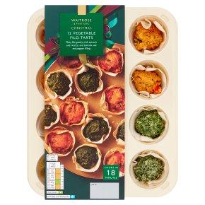 Waitrose Christmas Vegetable Tartlet Selection