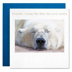 Polar Bear Grandad Fathers Day Card