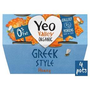 Yeo Valley Organic 0% Fat Greek Style Yogurts with Honey