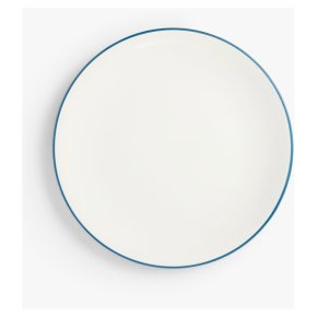 John Lewis Anyday Stoneware Side Plate Navy