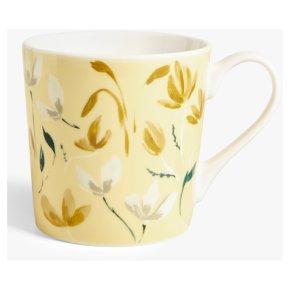 John Lewis Floral Sprigs Mug Yellow