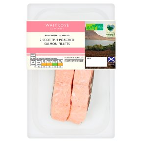 Waitrose poached Scottish salmon fillets