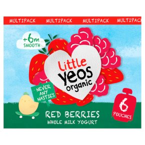 Yeo Valley Organic Little Yeos +6m Red Berries Yogurt