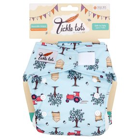 Tickle Tots Tractors Reusable Nappy