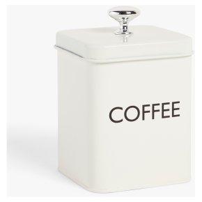 John Lewis Cream Coffee Tin