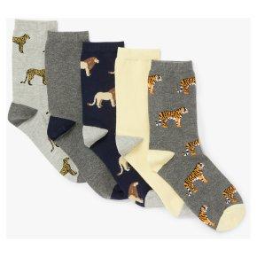 John Lewis Safari Animal Socks 5pk