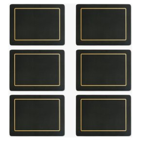 John Lewis Black and Gold Placemat
