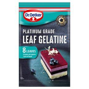 Dr.Oetker Platinum Leaf Gelatine 8s