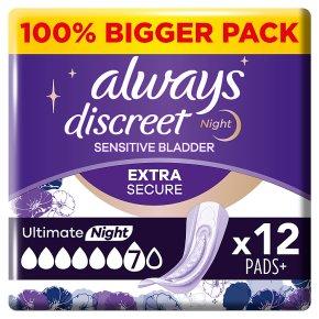 Always Discreet 6+6 Maxi Night