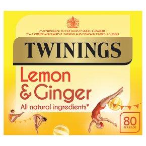 Twinings Lemon & Ginger Tea 80 Tea Bags