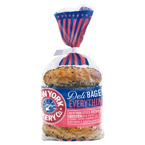 New York Bakery Co Deli Bagels Everything