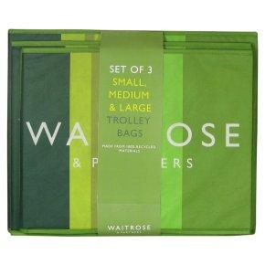 Waitrose Set Of 3 Trolley Bags