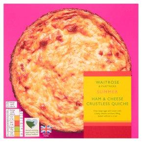 Waitrose Ham & Cheese Crustless Quiche