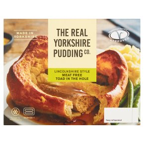 The Real Yorkshire Pudding Co Meat Free Toad in the Hole