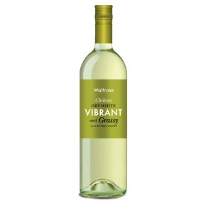 Waitrose Vibrant and Grassy, Chilean, White Wine