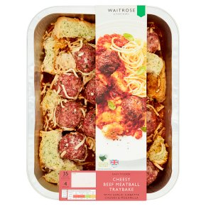 Easy to Cook Cheesy Beef Meatballs Tray Bake