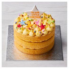 Golden Triple Layer Star Cake