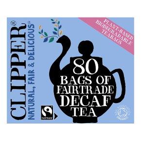 Clipper Fairtrade Decaf Tea 80 Tea Bags