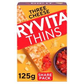 Ryvita Thins Three Cheese Flatbreads