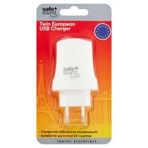Safe+Sound Twin European USB