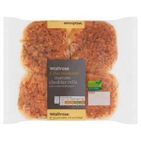 Waitrose Mature Cheddar Rolls