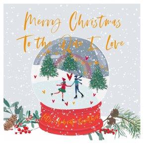 I Love Snowglobe Card