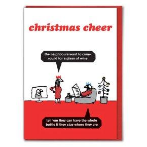 Christmas Cheer Bottle Of Wine Card