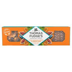 Thomas Fudge's Dark Choc & Orange Florentines