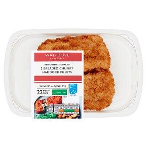 Waitrose Breaded Chunky Haddock